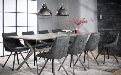 Eetkamer, eetkamertafel + 6 stoelen